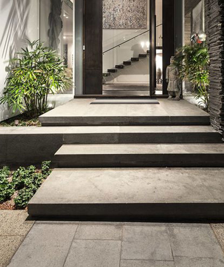 grey tiles wall cladding stone pavers blue stone granite charcoal paving