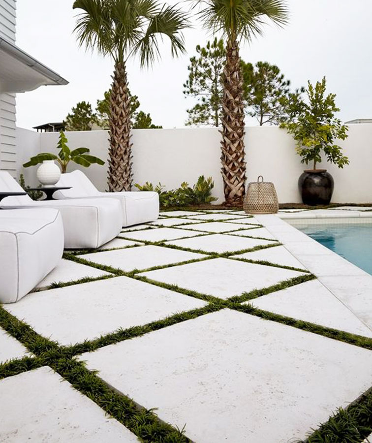 White Pool Tiles & Stone Pavers in Melbourne, Sydney or Brisbane