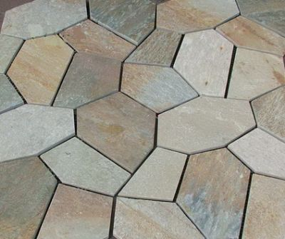 Quartz Crazy Paving on Mesh Sheets, Crazy Paving on Mesh