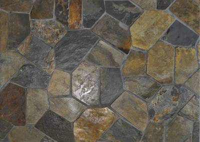 Wistow Crazy Paving on Mesh, Barossa Gold Crazy Paving on Mesh