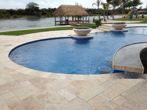Brisbane Travertine Pool Pavers at Balmoral