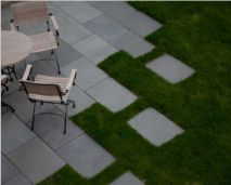 Bluestone Pavers shown here in an outdoor area giving a unique look