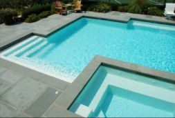 Bluestone Pool Coping Square Edge Rebates being used around this entire pool