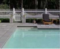 Outdoor Bluestone Pool copers and Modula style Pavers surrounding
