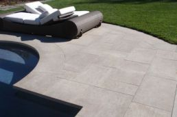Our Bluestone Pavers sawn and lightly honed finish in a flagstone pattern