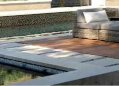 Bluestone Square edge rebate pool Pavers