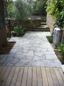 Bluestone offcut material crazy Pavers with a charcoal grout