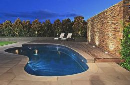 Curved bluestone bullnose Pool coping and Bluestone Pavers