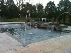Pool coping Bluestone Pavers with a square edge