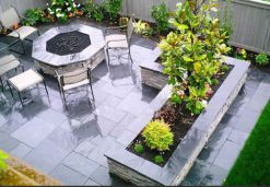 Enhanced Harkaway Bluestone Pavers set in a modula pattern