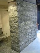 Our Bluestone Mushroom wall cladding with a rough textured finish