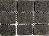 Tumbled Black Cobblestone Pavers
