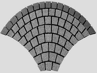 Fan Pattern Granite Cobblestones