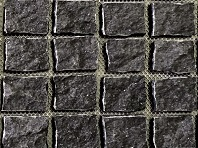 Natural Midnight Black Cobblestones