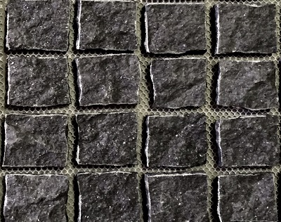 Black Natural Split Cobblestones