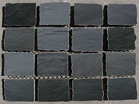Black Cobblestones on Mesh
