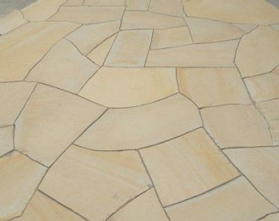 Crazy Paving Yellow Limestone, Flagstone Paving Yellow Limestone