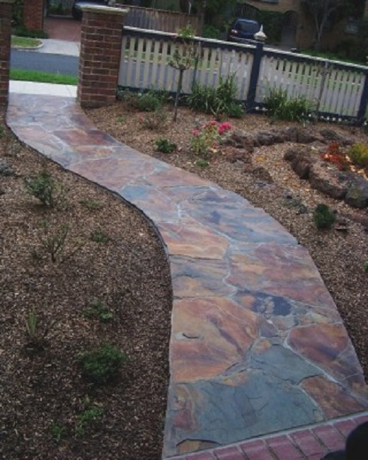 Crazy paving on mesh crazy pave easy to install sale for Paver installation adelaide