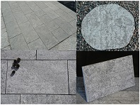 Ebony Black Limestone Pavers