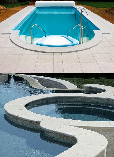 White Limestone Tumbled Pool Coping Tiles