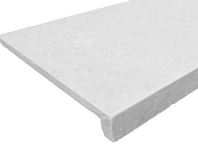 white pool coping drop face rebate light paving pools