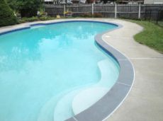 Curved Bullnosed Bluestone Coping Tile