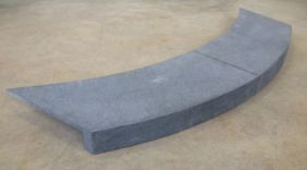 External Rebated Curved Bluestone Coping Tiles