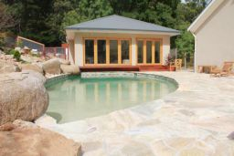 Natural Split Sandstone Crazy Pave Pool Paving