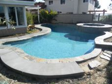 Pool Coping with Slate and Bluestone for contrasting colours