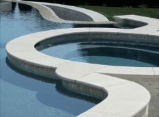 Honed Sandstone Bullnosed Coping Tiles