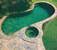Kakadu Crazy Pave used as Pool Coping and Paving, as well as internal pool tiles