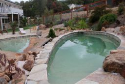 Sandstone Crazy Paving Pool Coping