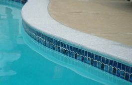Dove White Granite Bullnosed Pool Coping