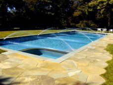 Bluestone Pool Coping with Crazy Pave Surround