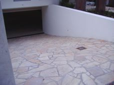 Sandstone Natural Split Crazy paving in a driveway