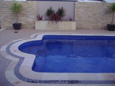 Sandstone Pool paving and pool coping pavers