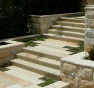 Non slip Sandstone Pavers and bullnose pool pavers on stairs