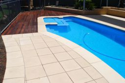 Honed Sandstone Pavers and pool coping which are non slip