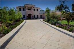 Sandblasted Sandstone Paving which are non slip surface for driveway use