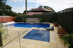 Pool paving and coping in Sandstone Pavers