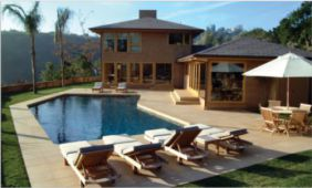 Non slip honed sandstone pool pavers and pool coping