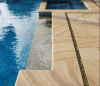 Teak Sandstone bullnose pool coping Pavers and paving