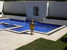 Natural Split surface Sandstone pavers and pool coping