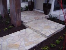 Sandstone natural split crazy paving with a non slip finish