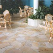 Natural split Sandstone crazy paving with a non slip finish