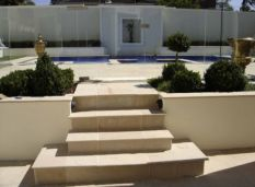 Natural split surface Sandstone outdoor pavers and stair edging