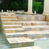 Himalayan Sandstone pavers and stair edging with a non slip surface