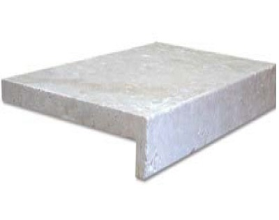 Ivory Travertine Drop Face Pool Coping Tiles