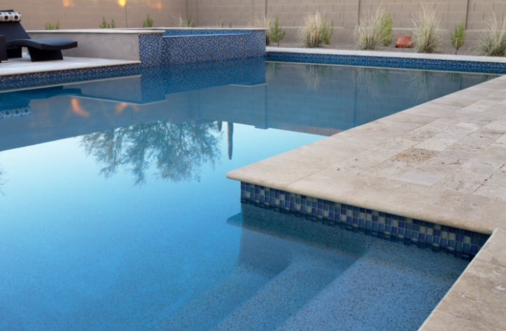 Ivory Travertine Bullnose Pool Coping