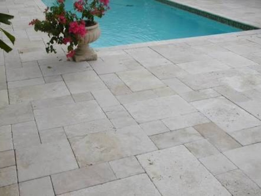 Travertine pavers tiles travertine suppliers for Shell driveway calculator